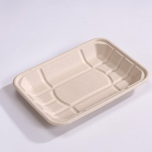 ZZ Eco Products TAN Fiber Meat Trays- 9 1/2″ X 7″ X 1″, 2/125