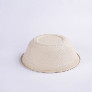 ZZ Eco Products Compostable Tableware Biodegradable 40 OZ Natural Bagasse Bowl, 500pcs/Carton