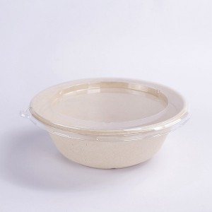 ZZ Eco Products Compostable Tableware Biodegradable 32 OZ Natural Bagasse Bowl, 500pcs/Carton