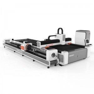 Dual exchange platform with tube cutting fiber laser cutting machine (ST-FC3015CR)