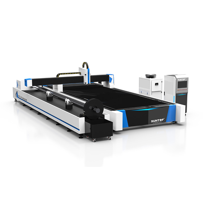 Sheet metal and tubes fiber laser cutting machine