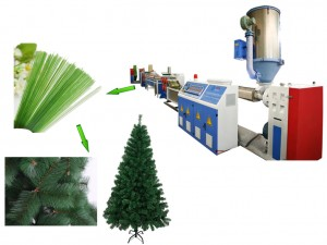 Plastic PET pine needle filament drawing machine