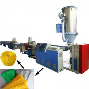 Plastic rope filament extruding machine