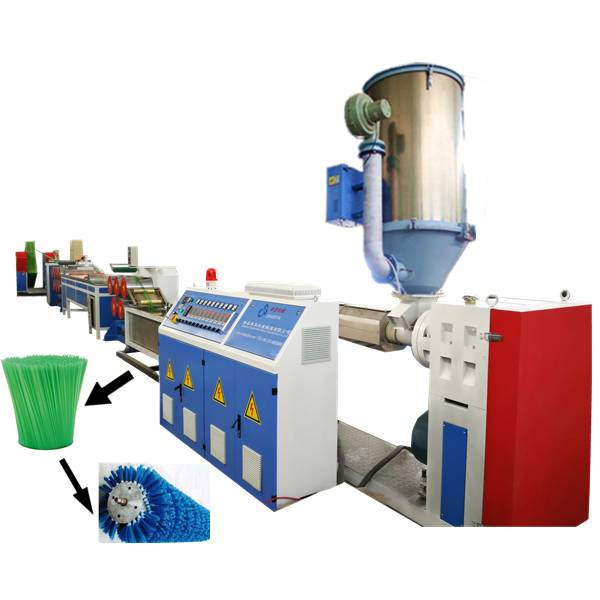 Plastic brush filament extruding machine