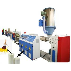Plastic paint brush filament extruding machine