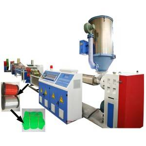 Plastic safety net filament extruding machine