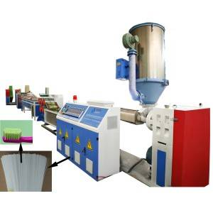 Plastic toothbrush filament extruding machine
