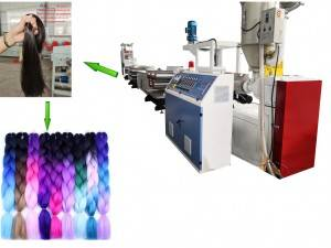 PP synthetic hair filament making machine