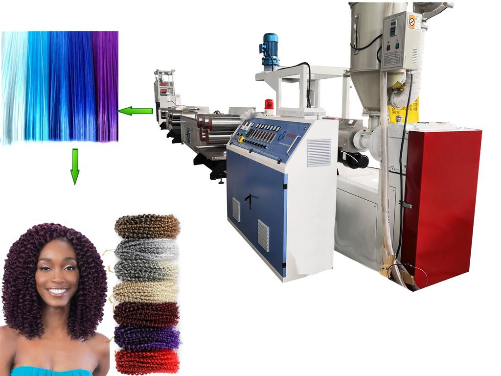 PET synthetic hair filament making machine