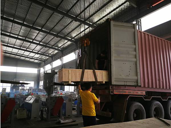Shipment of PET broom filament machine line
