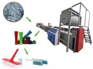 PET brush filament making machine