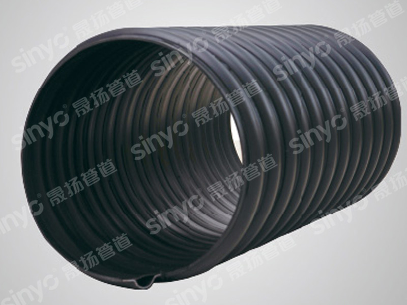 HDPE steel belt reinforced spiral corrugated pipe