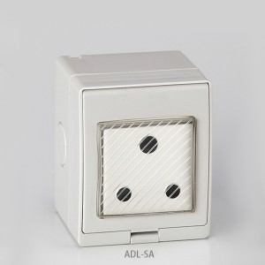 IP55 Series Waterproof Surface Switch+South African Socket