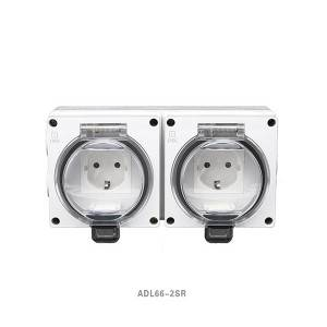 16A Schuko Series 1Gang Polycarbonate Construction IP66 Surface Socket