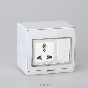 IP55 Series Waterproof Surface Switch +  Multi Function Socket