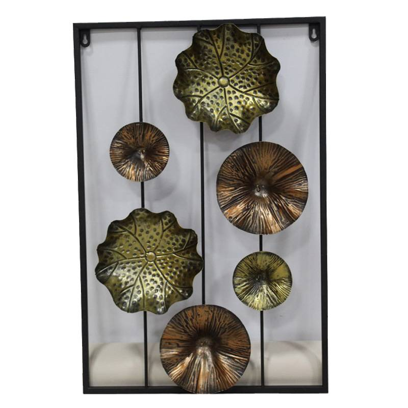 Metal Flower Wall Art Stickers Home Decor Featured Image