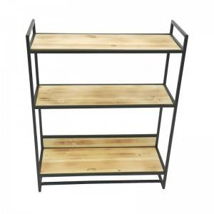 3 tier vintage wood decoration ladder shelf display corner storage rack shelf for living room