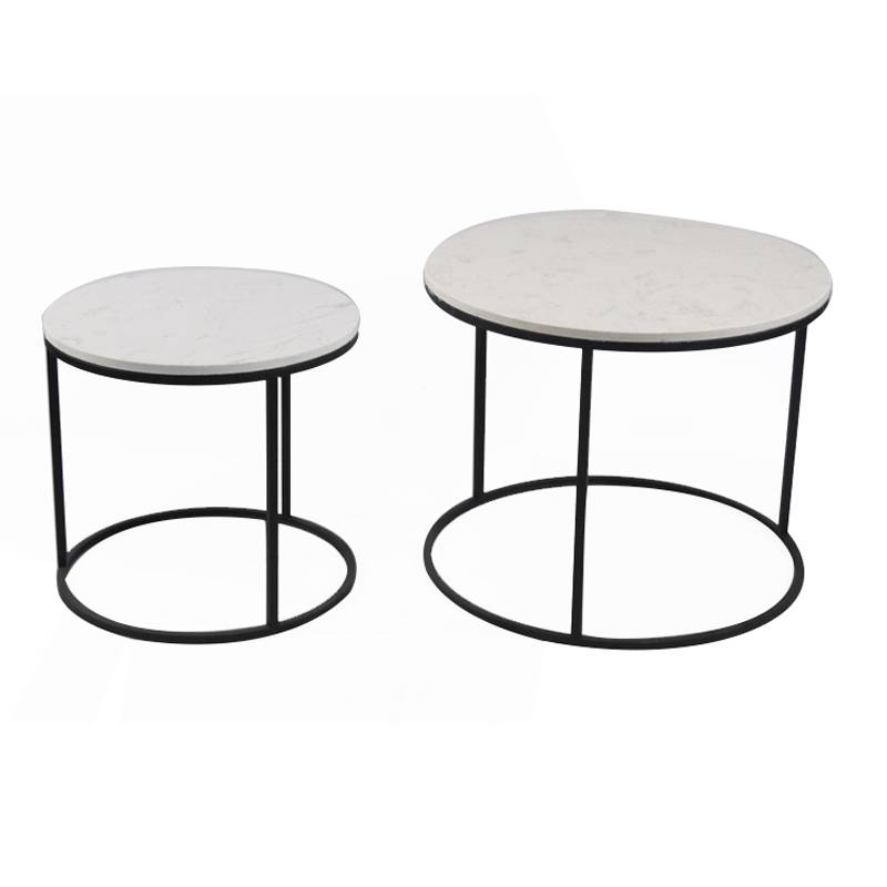 Factory Modern living room furniture home furniture round stainless steel table sets Featured Image