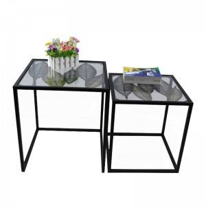 China Manufacturer Metal Table coffee table Furniture with steel base