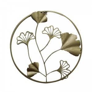 Round Landscape Modern Home Decor Wall Art Flower Crafts Metal Art