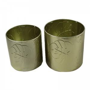 Metal Planter Green Garden Balcony Flower Pot
