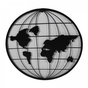 World Map Wall Art for Home Decoration