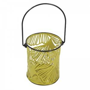 Indoor Outdoor Rustic metal Candle Hurricane Lantern For Table Top Or Wall Hanging Display