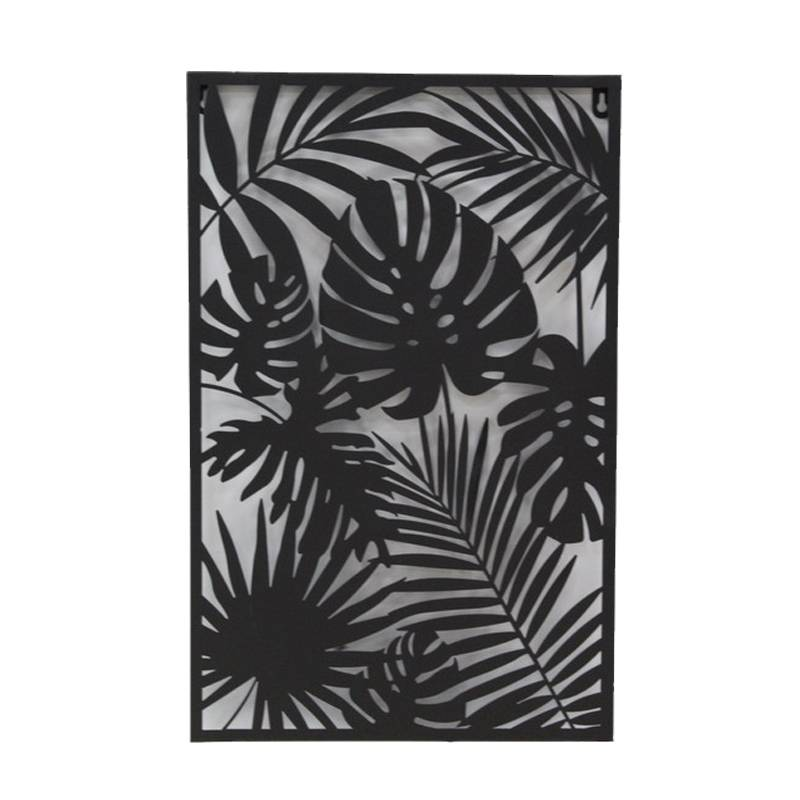 Black Iron Frame Wall Decor with Plant Design Featured Image