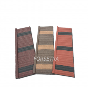 OEM Factory for Colorful Stone Coated Steel Roof Tile - Hot Sale In Kenya Stone Coated Metal Roof Tile/ Kenya Aluminum Roof Tile Price – Forsetra