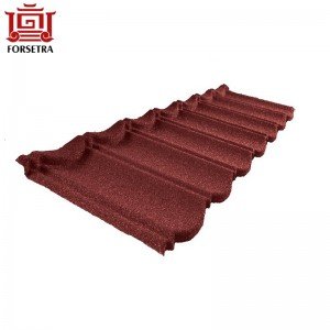 Philippines Colorful Classical Bond Type Stone Chips Coated Metal Roof Tile Price On Sale