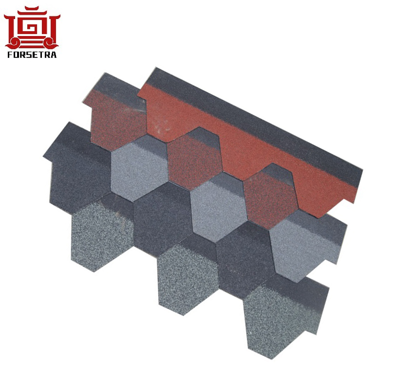 Low MOQ for High Quality Asphalt Shingle - Mosaic design best quality fiberglass Asphalt Shingle roofing tile hot sale for Nepal villa – Forsetra
