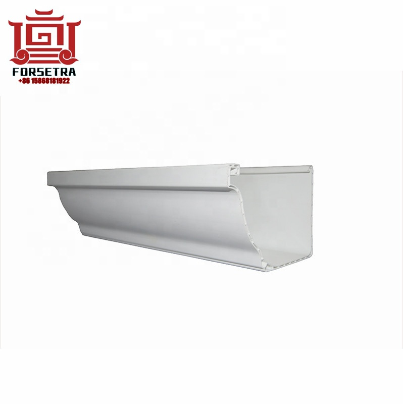 Factory Supply Plastic Drain Gutter Hot Sale Low Price Durable UV Resistant K-style PVC Square Rain Gutter White Color For Roofing – Forsetra