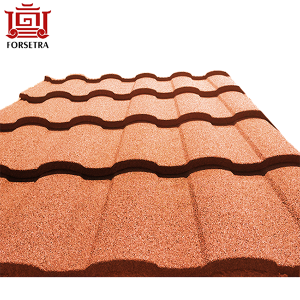 Nigeria Kenya Tanzania Nature Color Sand Stone Coated Metal Roof Tiles
