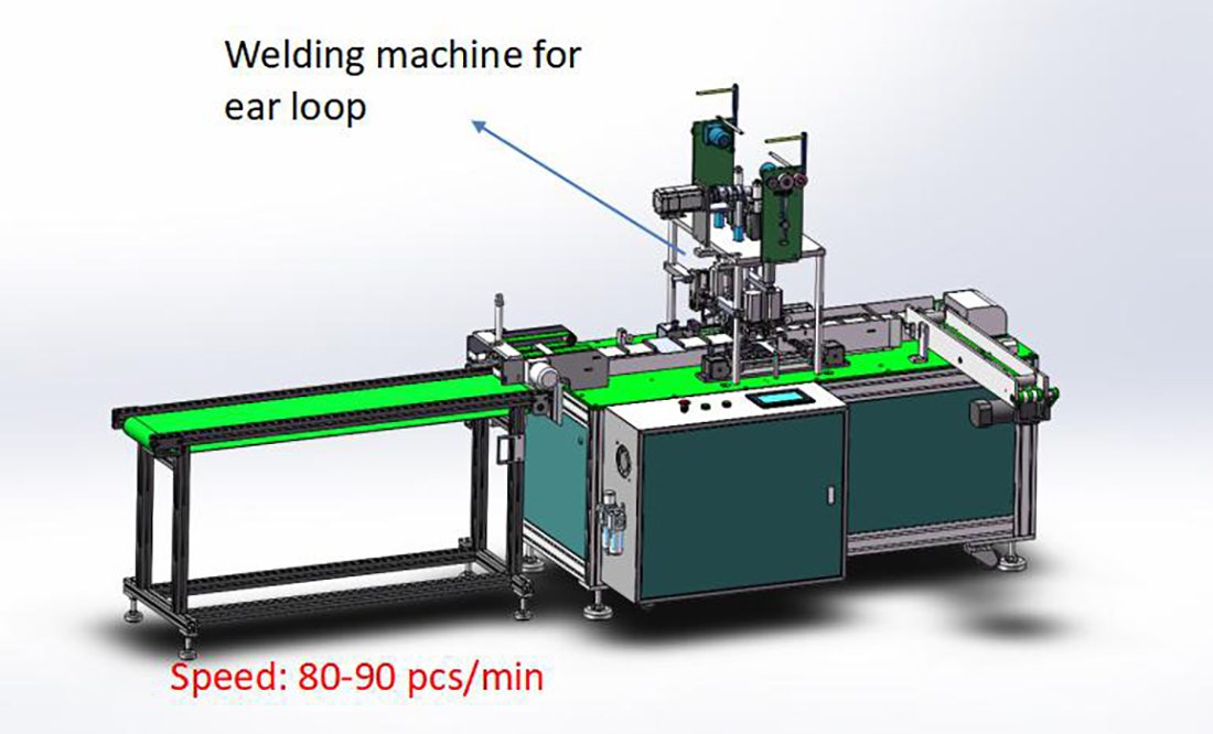 Fully auto ear loop welding machine
