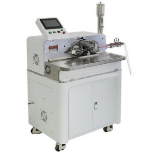 Full Automatic Vibrating Feeders Wire Stripping And Soldering Tin Machine