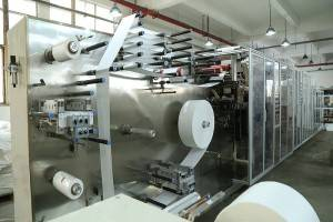 Full auto Facial Mask Making Machine L13m * W2.5m *H2.5m Size 40KW Installed Capacity