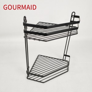 Two Tier Black Corner Shower Caddy