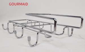 Chrome Under Cabinet Holder And Mug Rack