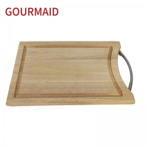 Rubber wood cutting board and handle