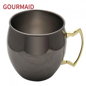 Gunmetal Black Drum Stainless Steel Ice Bucket