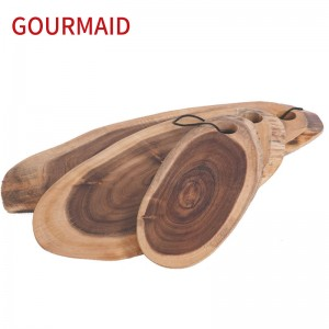 Acacia Tree Bark Oval Serving Board