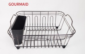 kitchen large nickel finish dish drainer