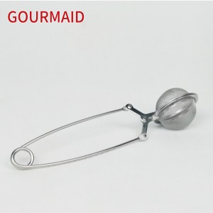 stainless steel mesh tea ball with handle