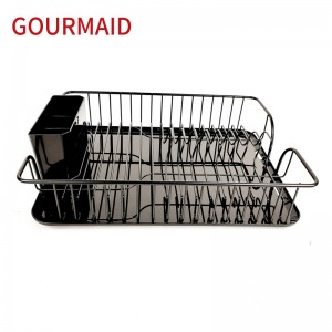 Black Wire Dish Drainer Rack