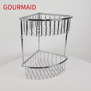 2 Tier Stainless Steel Corner Shower Caddy