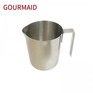 stainless steel straight sided milk foaming pitcher