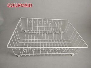 White Steel Dish Drying Drainer
