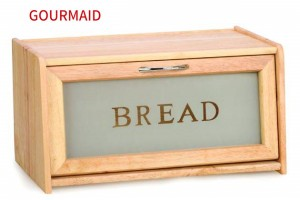 Wooden Bread Bin with window