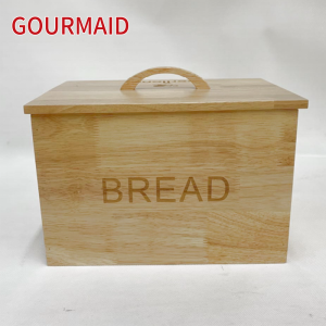 Wood bread bin with lift off lid
