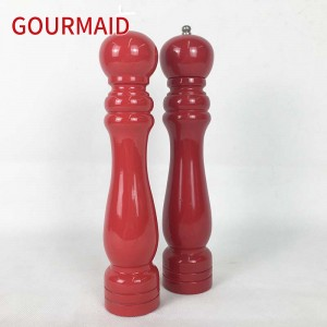 wood Pepper Mill Set with glossy painting